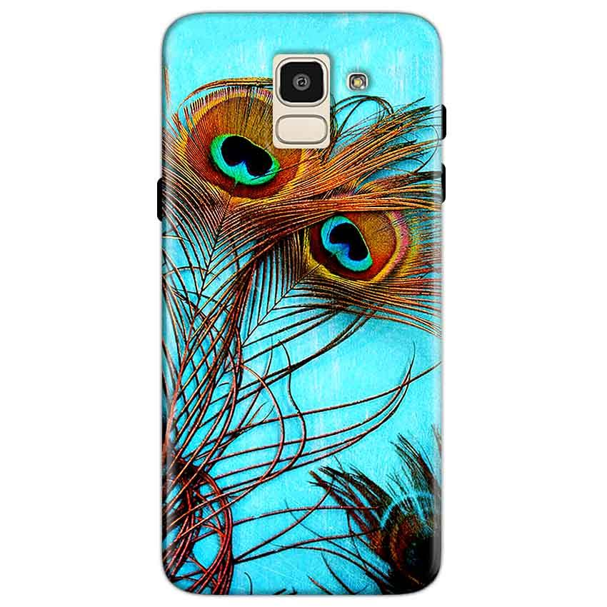 Samsung Galaxy J6 Mobile Covers Cases Peacock blue wings - Lowest Price - Paybydaddy.com