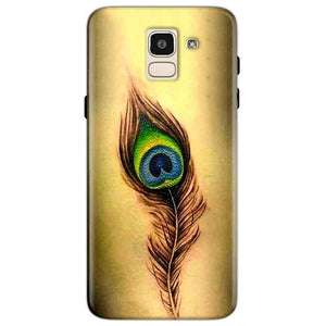 Samsung Galaxy J6 Mobile Covers Cases Peacock coloured art - Lowest Price - Paybydaddy.com
