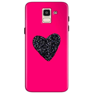 Samsung Galaxy J6 Mobile Covers Cases Pink Glitter Heart - Lowest Price - Paybydaddy.com