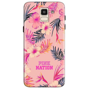 Samsung Galaxy J6 Mobile Covers Cases Pink nation - Lowest Price - Paybydaddy.com