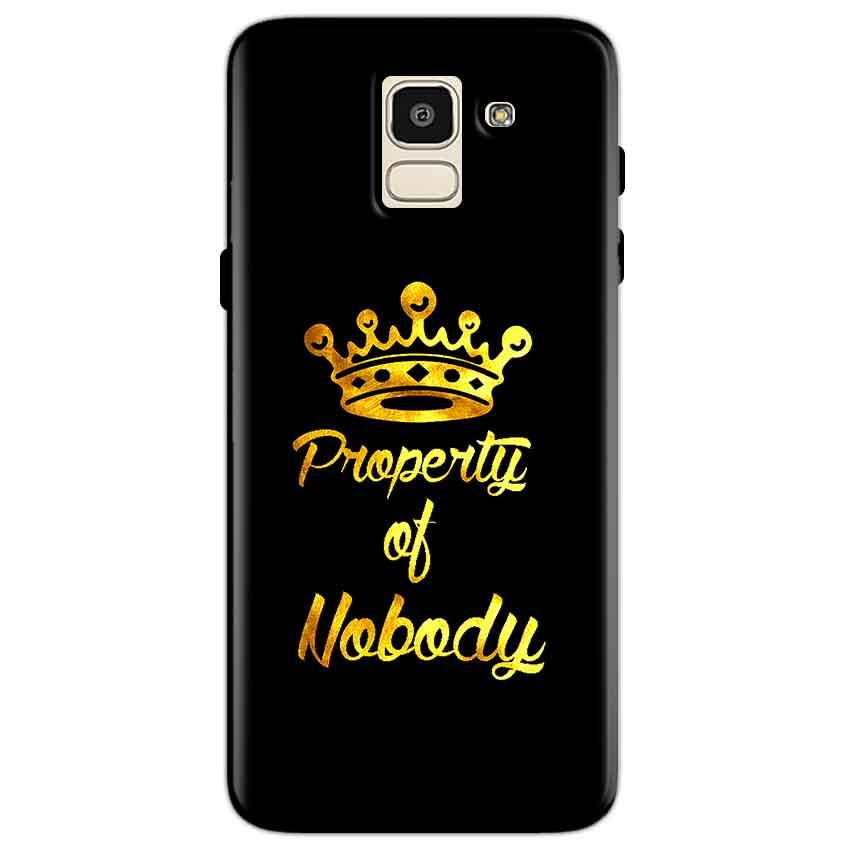 Samsung Galaxy J6 Mobile Covers Cases Property of nobody with Crown - Lowest Price - Paybydaddy.com
