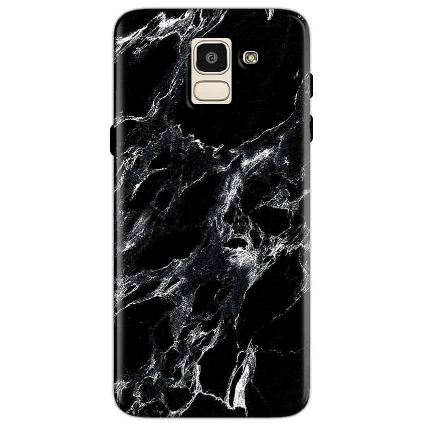 new product 124e0 10497 Samsung Galaxy J6 Pure Black Marble Texture Back Cover