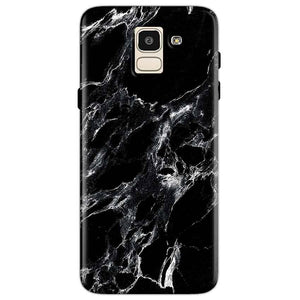 Samsung Galaxy J6 Mobile Covers Cases Pure Black Marble Texture - Lowest Price - Paybydaddy.com