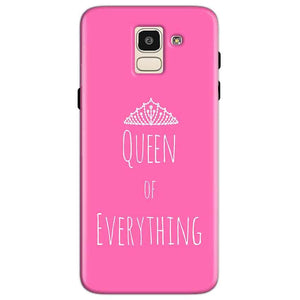 Samsung Galaxy J6 Mobile Covers Cases Queen Of Everything Pink White - Lowest Price - Paybydaddy.com