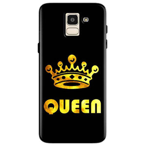 Samsung Galaxy J6 Mobile Covers Cases Queen With Crown in gold - Lowest Price - Paybydaddy.com