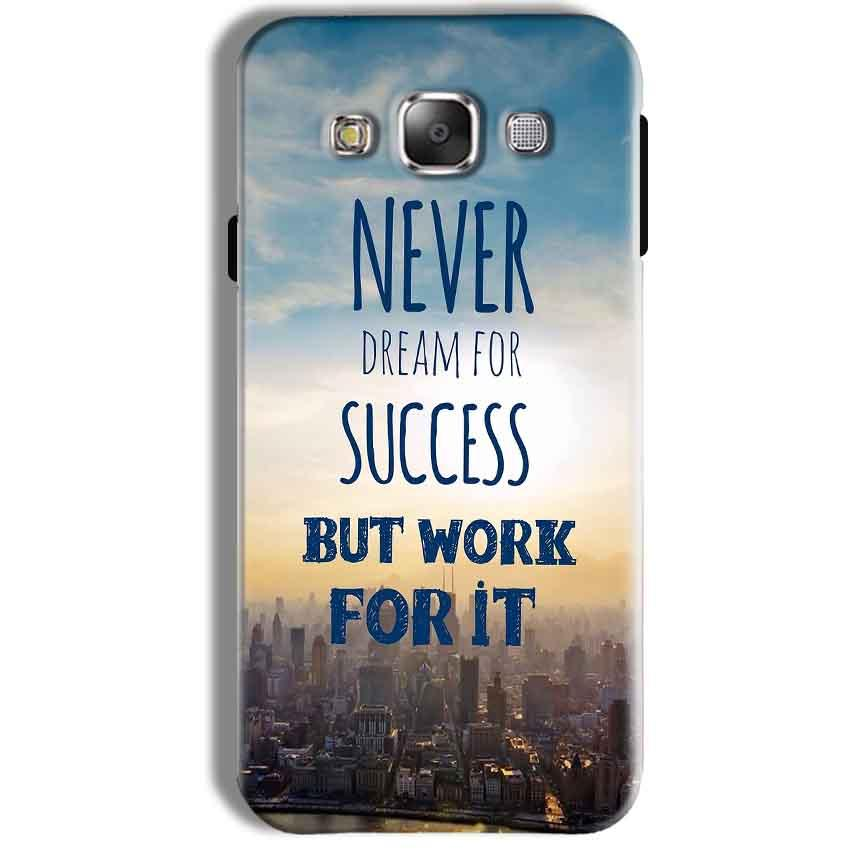 Samsung Galaxy J7 2016 Mobile Covers Cases Never Dreams For Success But Work For It Quote - Lowest Price - Paybydaddy.com