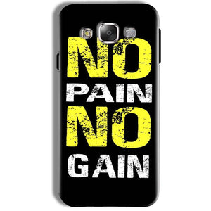 Samsung Galaxy J7 2016 Mobile Covers Cases No Pain No Gain Yellow Black - Lowest Price - Paybydaddy.com