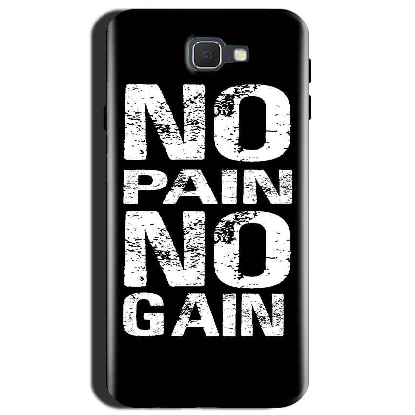 Samsung Galaxy J7 Max Mobile Covers Cases No Pain No Gain Black And White - Lowest Price - Paybydaddy.com