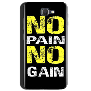 Samsung Galaxy J7 Max Mobile Covers Cases No Pain No Gain Yellow Black - Lowest Price - Paybydaddy.com