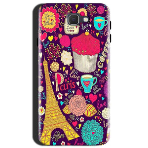 Samsung Galaxy J7 Max Mobile Covers Cases Paris Sweet love - Lowest Price - Paybydaddy.com