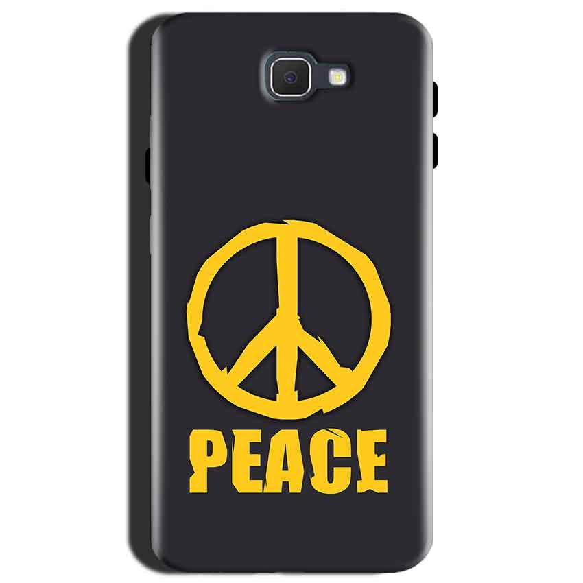 Samsung Galaxy J7 Max Mobile Covers Cases Peace Blue Yellow - Lowest Price - Paybydaddy.com