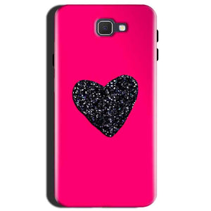 Samsung Galaxy J7 Max Mobile Covers Cases Pink Glitter Heart - Lowest Price - Paybydaddy.com