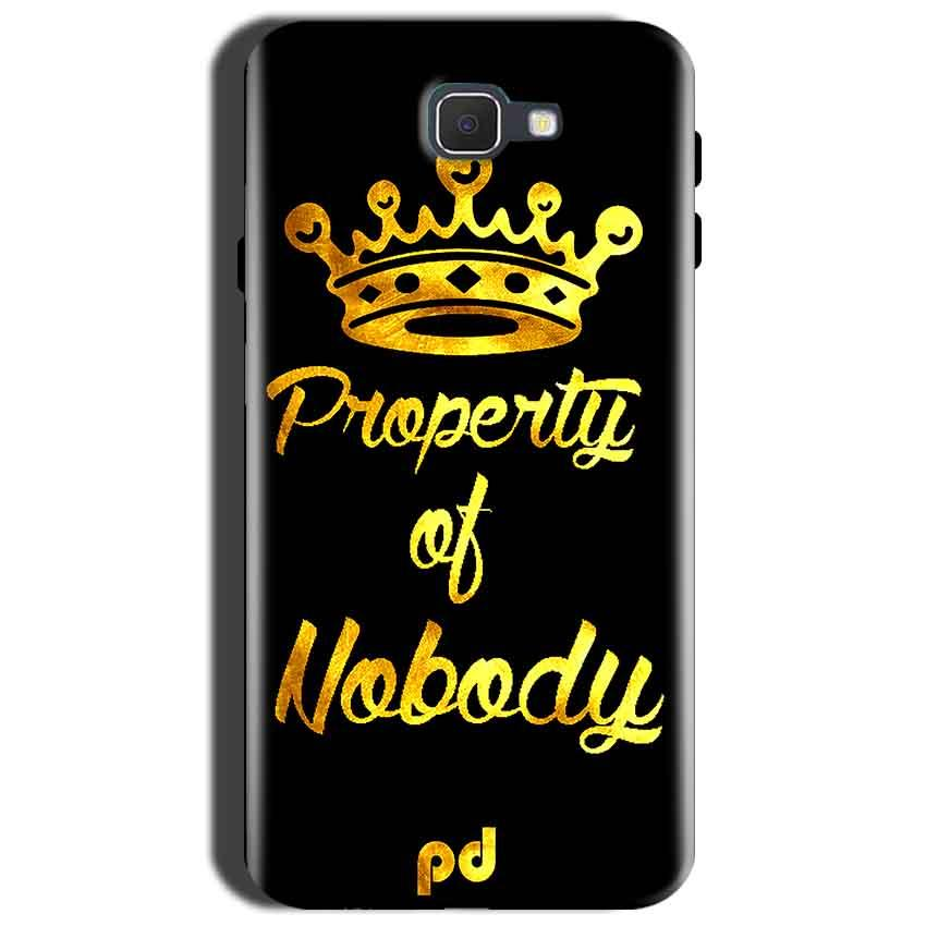 Samsung Galaxy J7 Nxt Mobile Covers Cases Property of nobody with Crown - Lowest Price - Paybydaddy.com