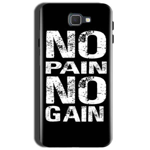 Samsung Galaxy J7 Prime 2 Mobile Covers Cases No Pain No Gain Black And White - Lowest Price - Paybydaddy.com