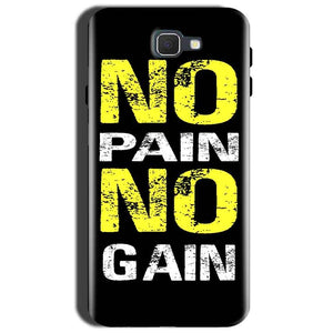 Samsung Galaxy J7 Prime 2 Mobile Covers Cases No Pain No Gain Yellow Black - Lowest Price - Paybydaddy.com