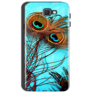 Samsung Galaxy J7 Prime 2 Mobile Covers Cases Peacock blue wings - Lowest Price - Paybydaddy.com