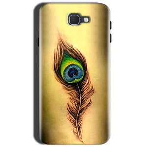 Samsung Galaxy J7 Prime 2 Peacock coloured art Back Cover