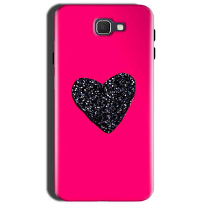 Samsung Galaxy J7 Prime 2 Mobile Covers Cases Pink Glitter Heart - Lowest Price - Paybydaddy.com
