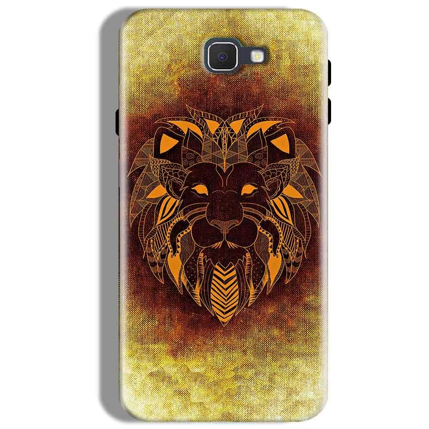 Samsung Galaxy J7 Prime Mobile Covers Cases Lion face art - Lowest Price - Paybydaddy.com
