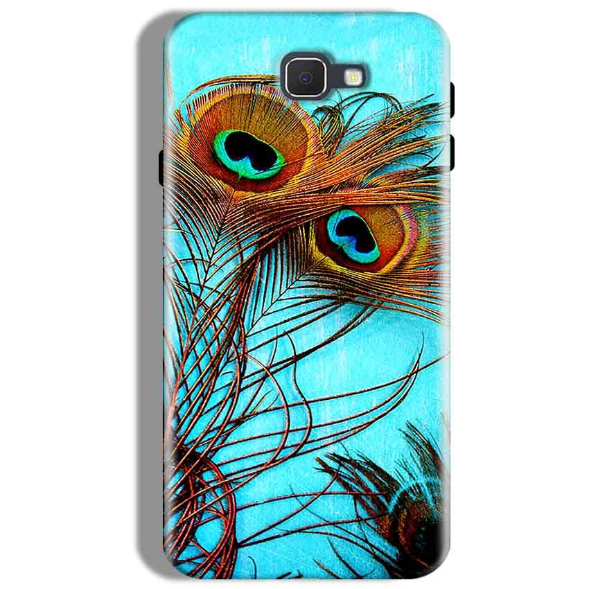 Samsung Galaxy J7 Prime Mobile Covers Cases Peacock blue wings - Lowest Price - Paybydaddy.com