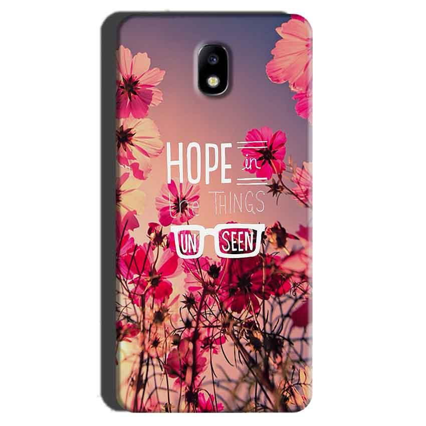 Samsung Galaxy J7 Pro Mobile Covers Cases Hope in the Things Unseen- Lowest Price - Paybydaddy.com