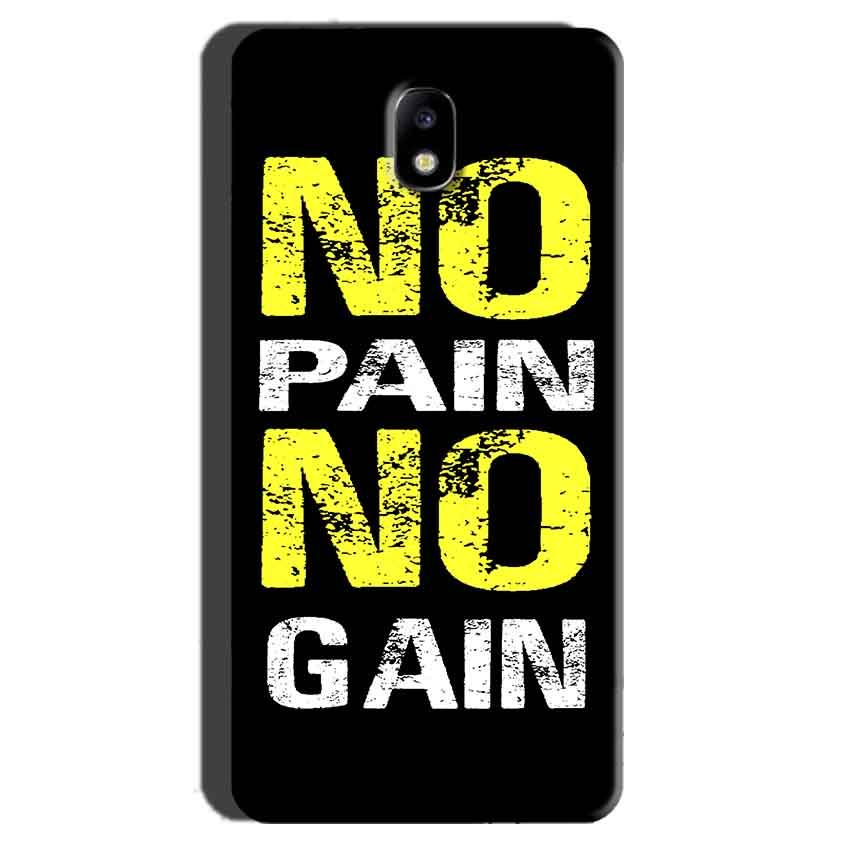 Samsung Galaxy J7 Pro Mobile Covers Cases No Pain No Gain Yellow Black - Lowest Price - Paybydaddy.com