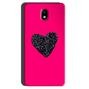 Samsung Galaxy J7 Pro Mobile Covers Cases Pink Glitter Heart - Lowest Price - Paybydaddy.com