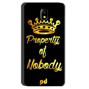 Samsung Galaxy J7 Pro Mobile Covers Cases Property of nobody with Crown - Lowest Price - Paybydaddy.com