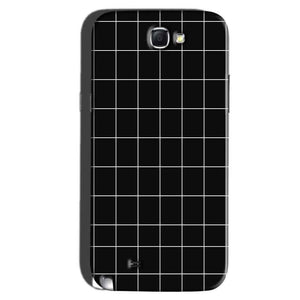 Samsung Galaxy Note 2 Mobile Covers Cases Black with White Checks - Lowest Price - Paybydaddy.com