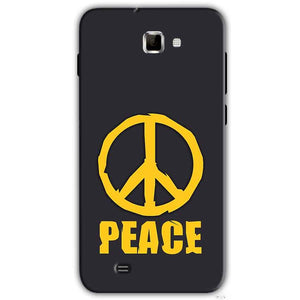 Samsung Galaxy Note 2 N7000 Mobile Covers Cases Peace Blue Yellow - Lowest Price - Paybydaddy.com