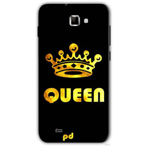 Samsung Galaxy Note 2 N7000 Mobile Covers Cases Queen With Crown in gold - Lowest Price - Paybydaddy.com