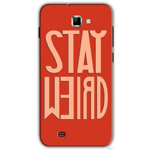 Samsung Galaxy Note 2 N7000 Mobile Covers Cases Stay Weird - Lowest Price - Paybydaddy.com