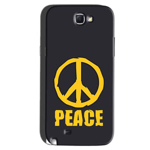 Samsung Galaxy Note 2 Mobile Covers Cases Peace Blue Yellow - Lowest Price - Paybydaddy.com