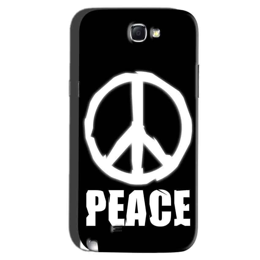 Samsung Galaxy Note 2 Mobile Covers Cases Peace Sign In White - Lowest Price - Paybydaddy.com