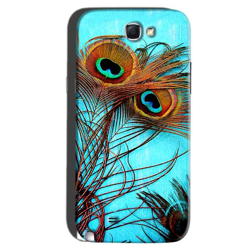 Samsung Galaxy Note 2 Mobile Covers Cases Peacock blue wings - Lowest Price - Paybydaddy.com