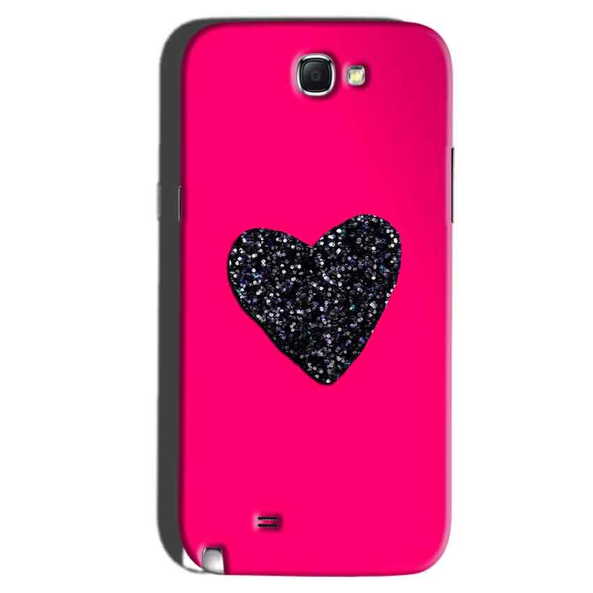 Samsung Galaxy Note 2 Mobile Covers Cases Pink Glitter Heart - Lowest Price - Paybydaddy.com