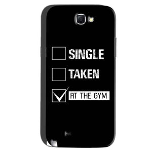 Samsung Galaxy Note 2 Mobile Covers Cases Single Taken At The Gym - Lowest Price - Paybydaddy.com