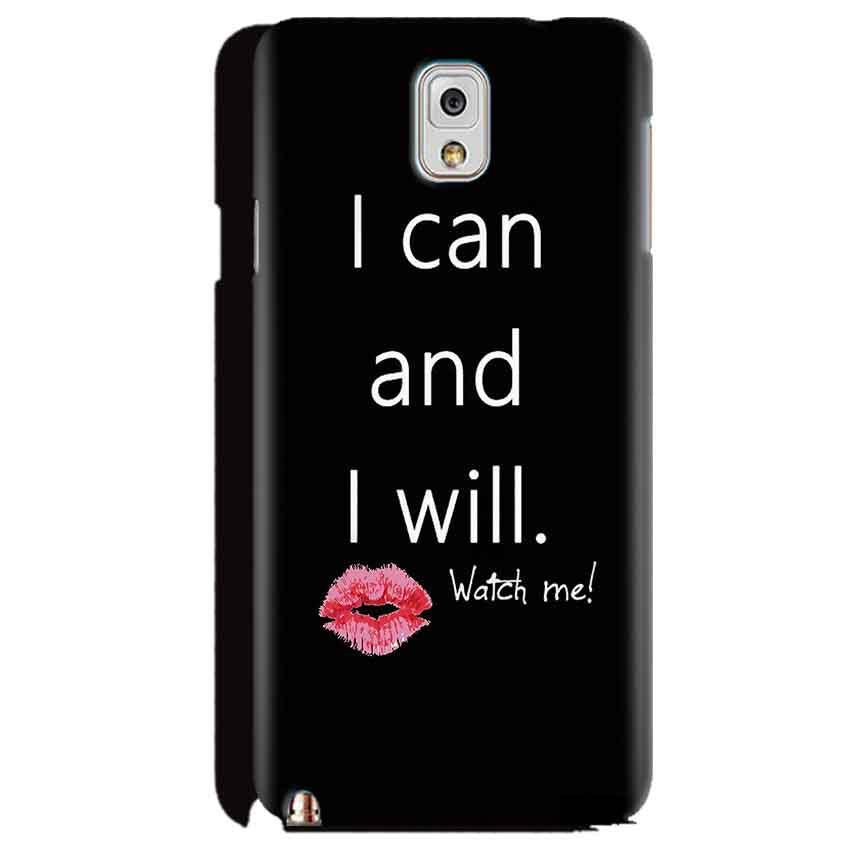 Samsung Galaxy Note 3 Mobile Covers Cases i can and i will Lips - Lowest Price - Paybydaddy.com
