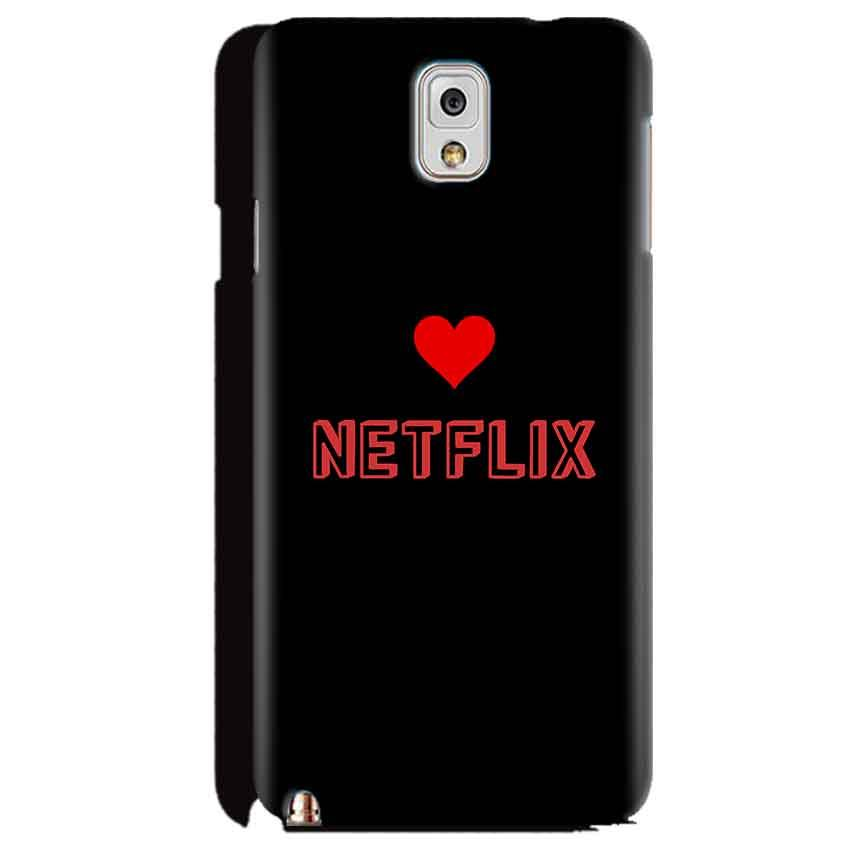 Samsung Galaxy Note 3 Mobile Covers Cases NETFLIX WITH HEART - Lowest Price - Paybydaddy.com