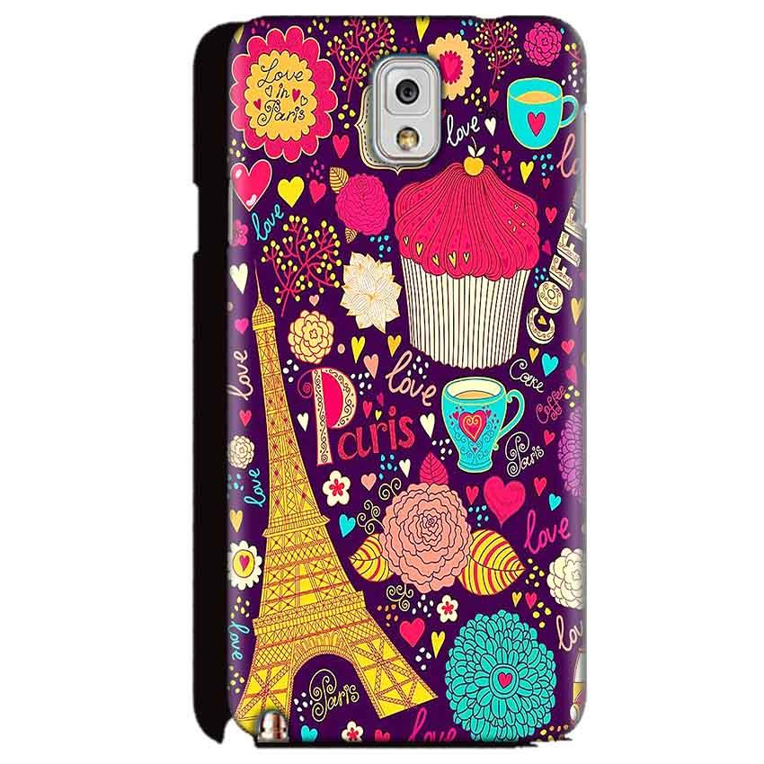 Samsung Galaxy Note 3 Mobile Covers Cases Paris Sweet love - Lowest Price - Paybydaddy.com