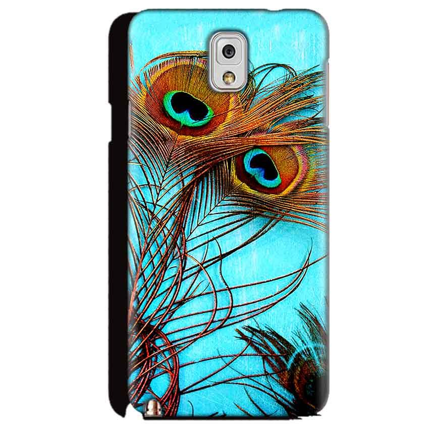 Samsung Galaxy Note 3 Mobile Covers Cases Peacock blue wings - Lowest Price - Paybydaddy.com