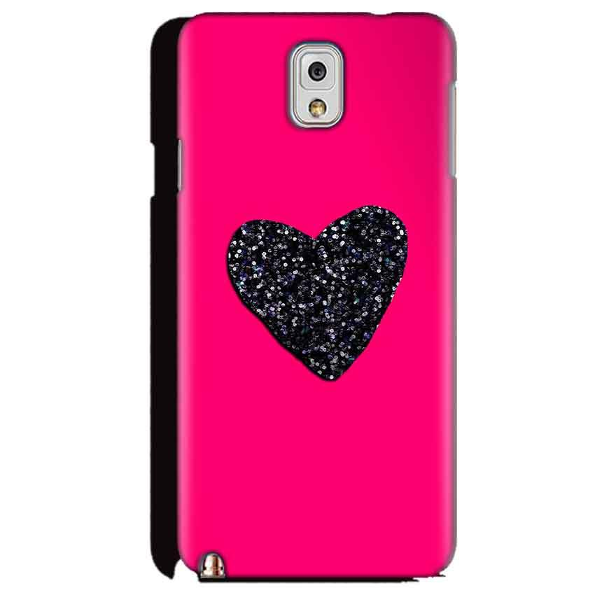 Samsung Galaxy Note 3 Mobile Covers Cases Pink Glitter Heart - Lowest Price - Paybydaddy.com