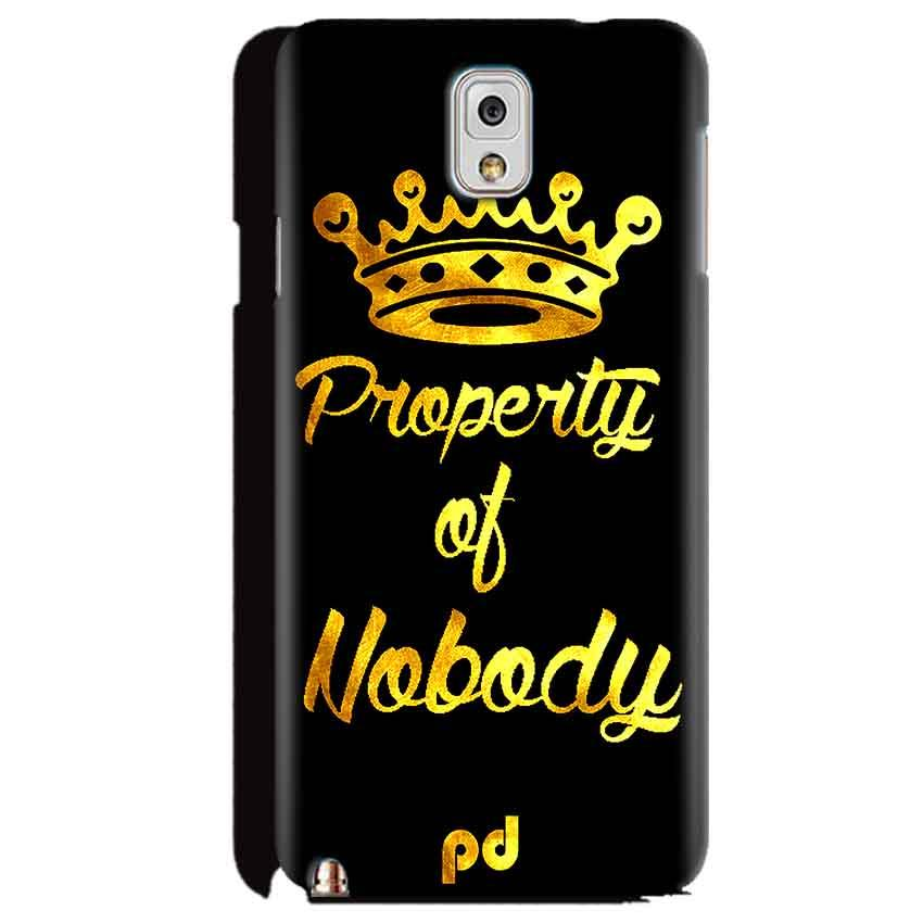 Samsung Galaxy Note 3 Mobile Covers Cases Property of nobody with Crown - Lowest Price - Paybydaddy.com