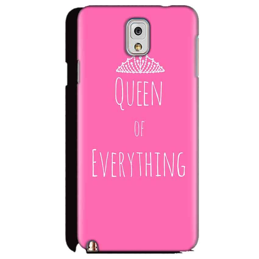 Samsung Galaxy Note 3 Mobile Covers Cases Queen Of Everything Pink White - Lowest Price - Paybydaddy.com