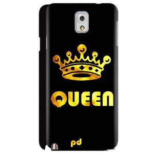 Samsung Galaxy Note 3 Mobile Covers Cases Queen With Crown in gold - Lowest Price - Paybydaddy.com