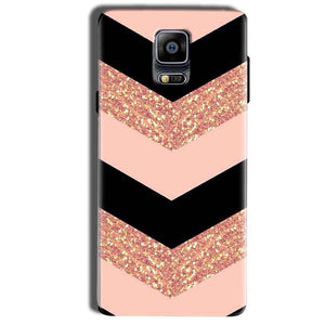Samsung Galaxy Note 4 Mobile Covers Cases Black down arrow Pattern - Lowest Price - Paybydaddy.com