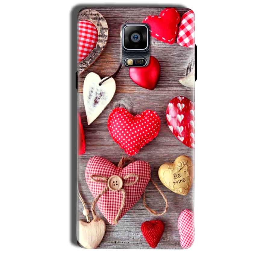Samsung Galaxy Note 4 Mobile Covers Cases Hearts- Lowest Price - Paybydaddy.com