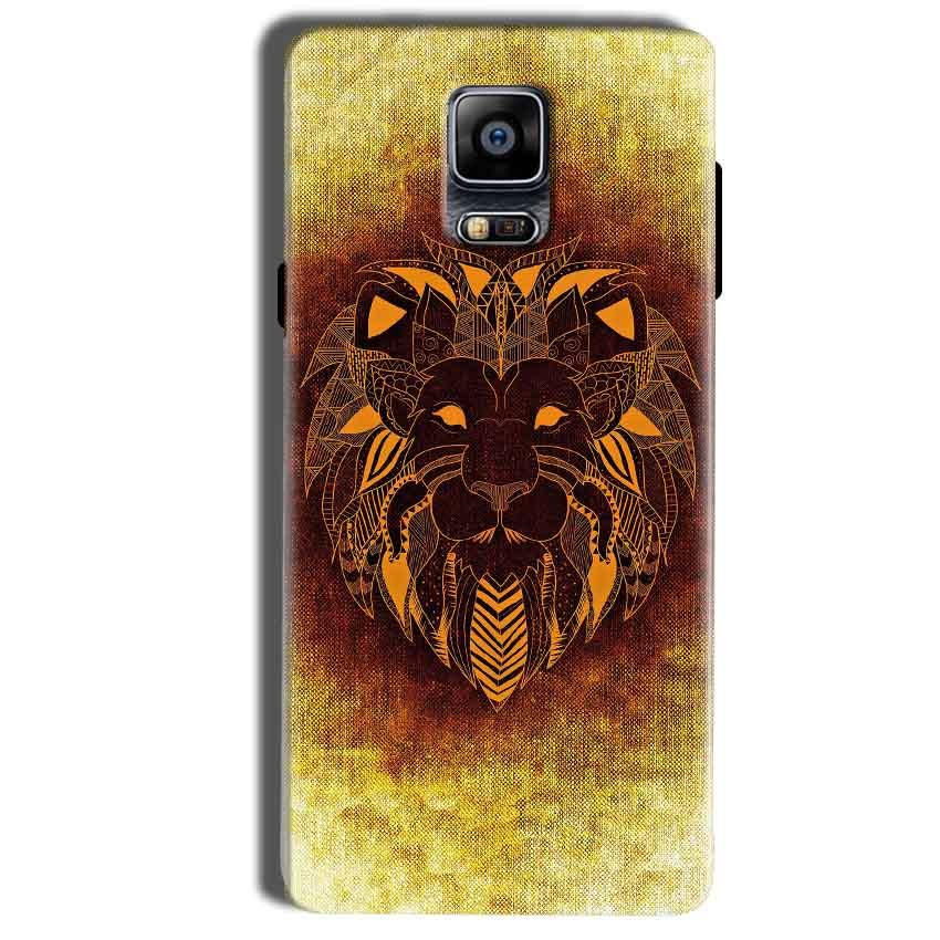 Samsung Galaxy Note 4 Mobile Covers Cases Lion face art - Lowest Price - Paybydaddy.com