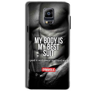 Samsung Galaxy Note 4 Mobile Covers Cases My Body is my best suit - Lowest Price - Paybydaddy.com