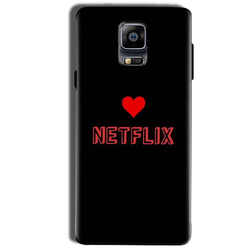 Samsung Galaxy Note 4 Mobile Covers Cases NETFLIX WITH HEART - Lowest Price - Paybydaddy.com